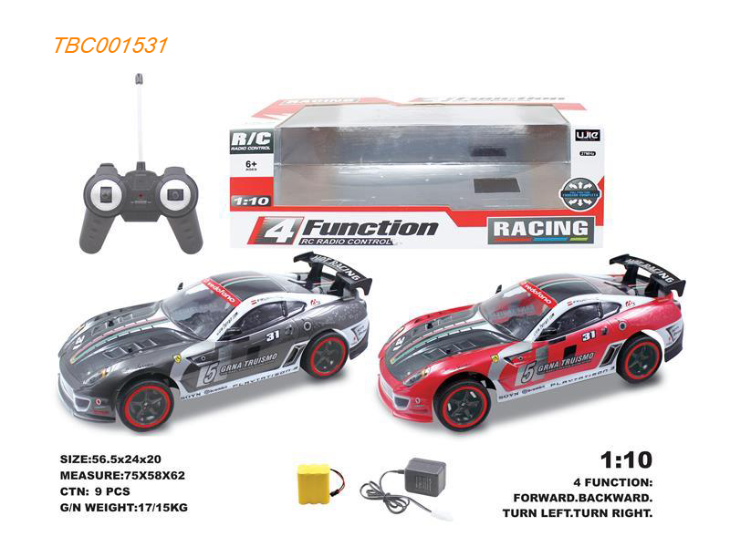 1:10 4 CH Remote control cars included batteries