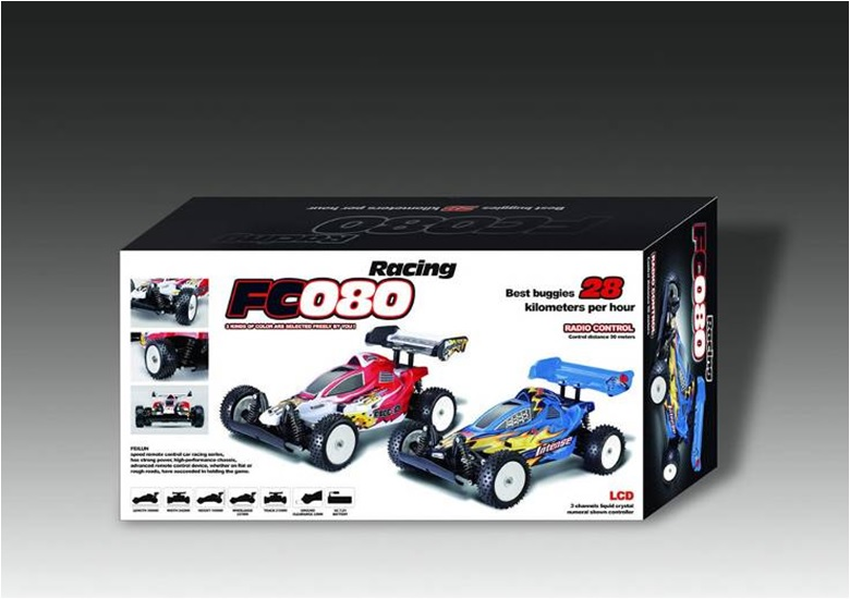 Scale 1:10 digital cross-country model car for color box