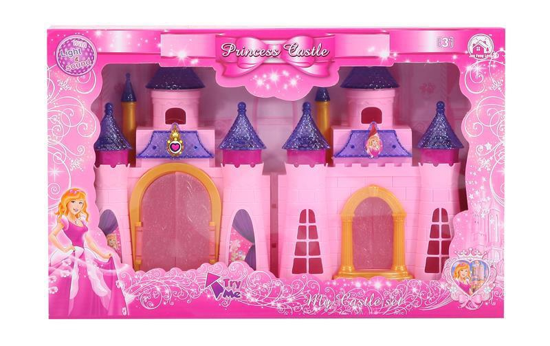 Colorful lights castle with 12 music (two color) (with three AG13 batteries)