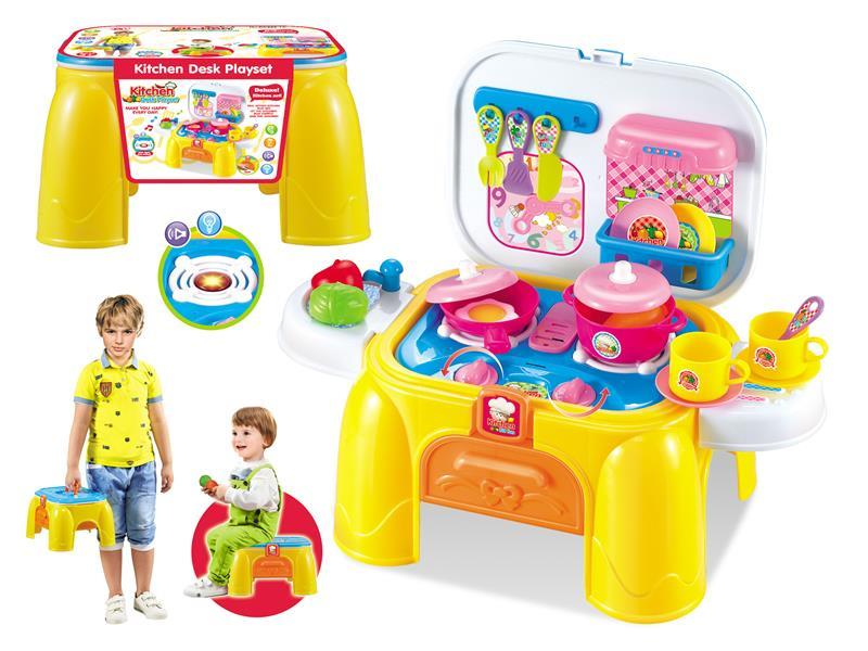 Kitchen storage desk with sound light Kitchen Desk Play set