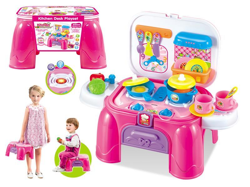 Girl kitchen storage desk Kitchen Desk play set