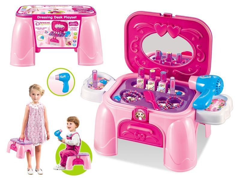 Dressing storage and storage of hair dryer Dressing Desk playset