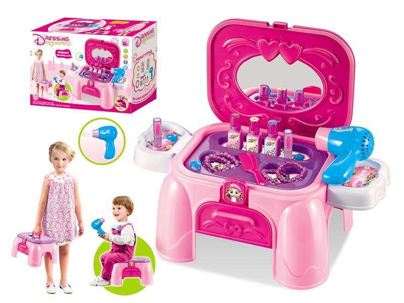 Dressing storage and storage of hair dryer Dressing play set