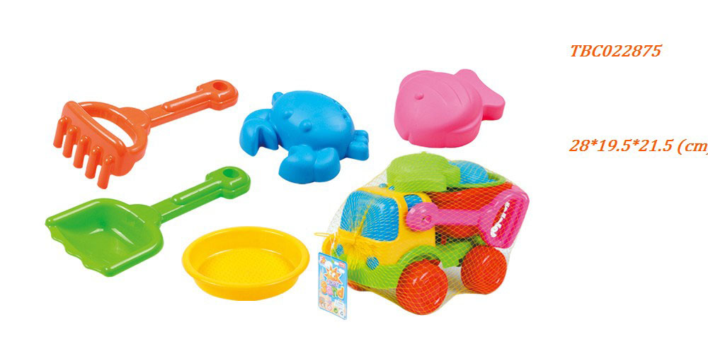 Beach car with Tool set and Sand mold Summer Toys