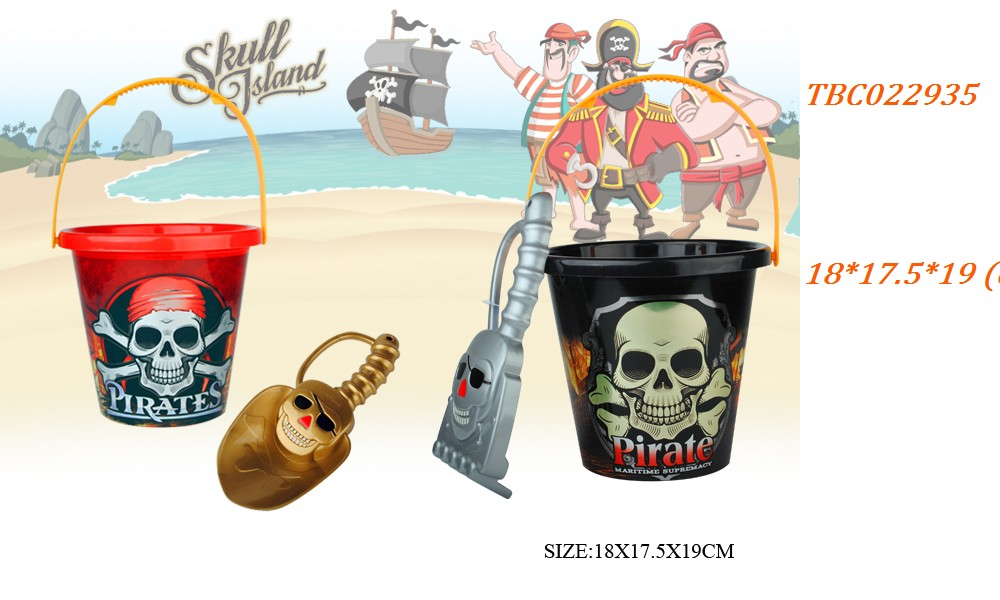 Newest Pirate Plastic castle beach toy set