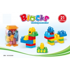 English packaging: Puzzle big particles building blocks 21pcs