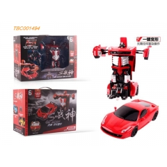 Hot Selling 2.4G 1:14  Ferrari onekey deformation car