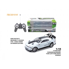 Hot Selling PVC RC Car 5CH RC Car 1:18 High Speed RC Car