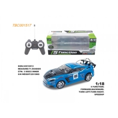 Best Selling PVC 1:18 5CH RC car with speed up