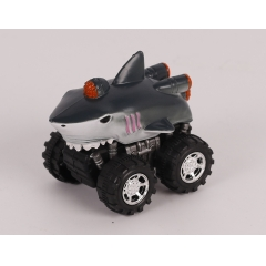 New style Plastic toy wild animal pull back/Friction car - Shark/Dolphin/Hammerhead shark/Orca