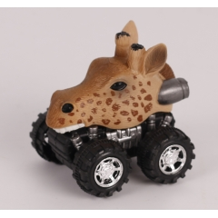 Newest Plastic toy wild animal pull back/Friction car - Zebra/ Giraffe/Bald eagle/Snake