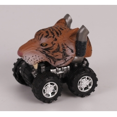 New style Plastic toy wild animal pull back car - Leopard/Tiger/Lion/Bear