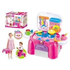 Best Selling Funny Kitchen storage desk with sound light Kitchen Desk Play set