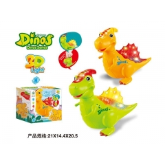 New style 3D with light music electric universal dinosaur (2 colors)