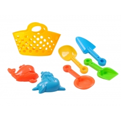 Summer Toys Hand basket Beach Sand Toys play set with Sand mold and Sand Tool