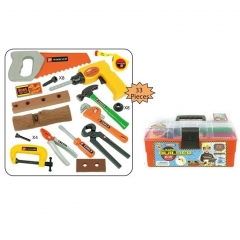 Tool set in plastic box
