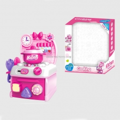 Pink Pretend Play Kitchen Toys Set With Light And Music Girl Boy